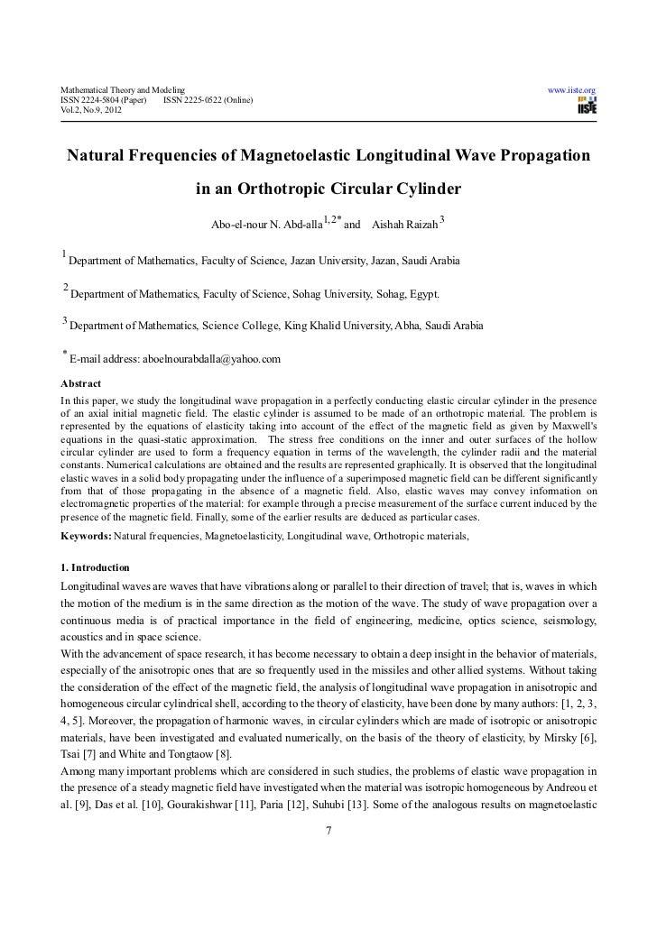 Natural frequencies of magnetoelastic longitudinal wave propagation