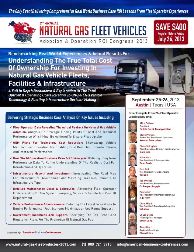 Natural gas fleet vehicles congress 2013