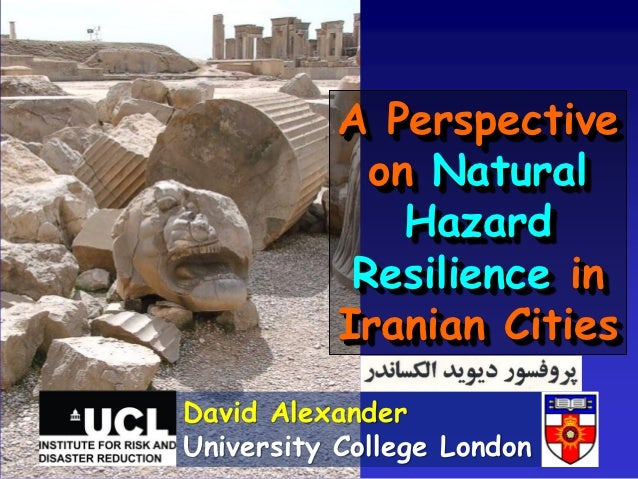 Natural Hazard Resilience in Iran
