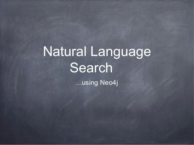 Natural Language Search ...using Neo4j
