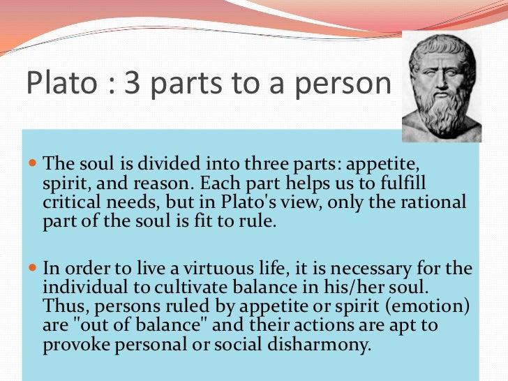 plato 3 parts of the soul in the republic