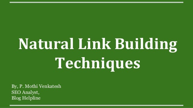 Natural Building Techniques : Natural link building techniques