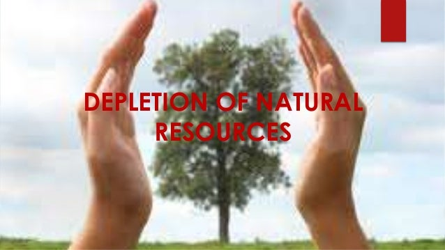 Human activity natural resources