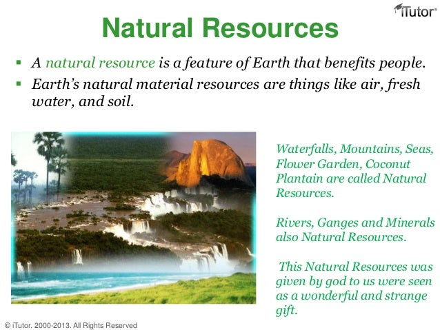 Natural Resources and Energy