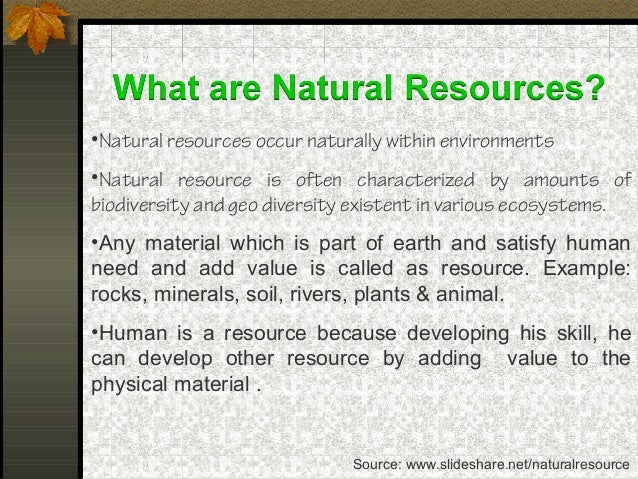 Sustainable Management Of Natural Resources Essay