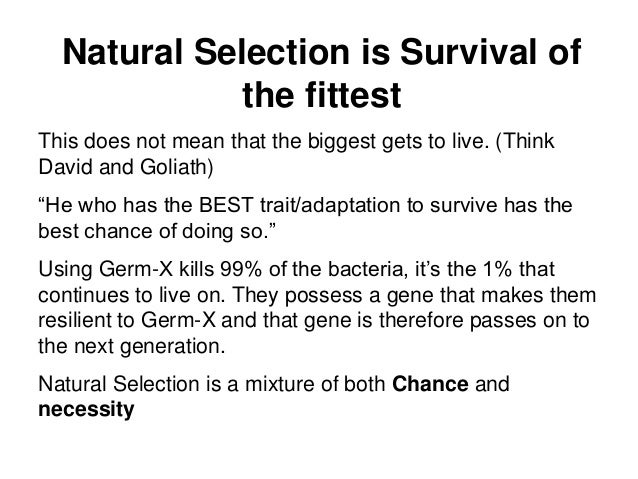 What Does Natural Selection Mean In Science