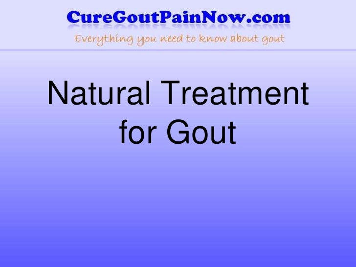 Natural treatment for gout