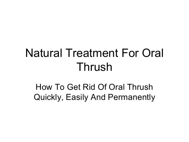 how to stop thrush naturally