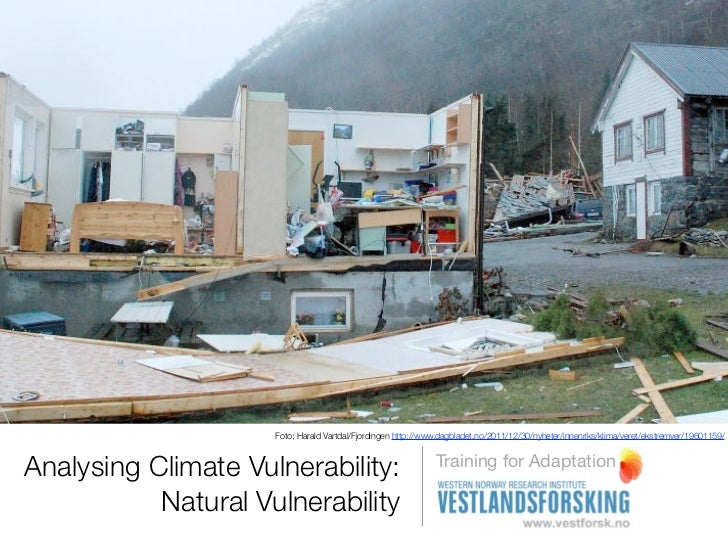 Natural vulnerability - Analysing climate vulnerability- Online training resource for climate adaptaiton