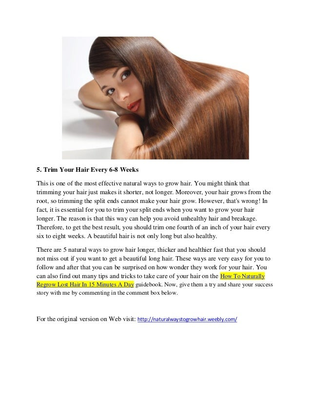 Natural Ways To Help Hair Grow Fast