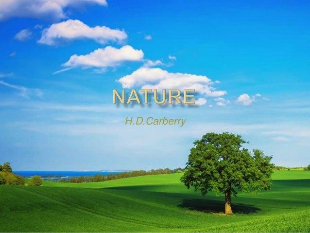 nature by h d carbery Parliamo in questo caso di carbery e volac  sarebbe come mangiare una bistecca e un bicchiere d'acqua,   .