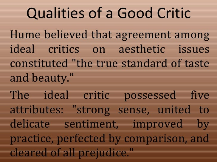 What is a good subject for a critical analysis?