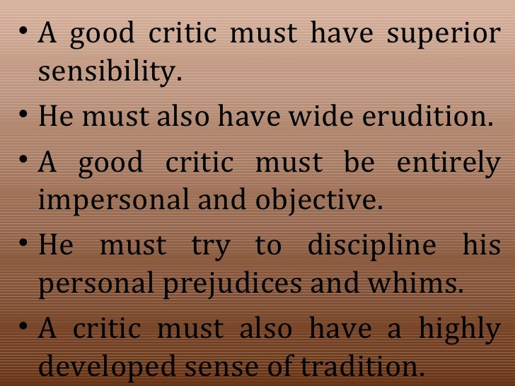 What is Evaluative Criticism?
