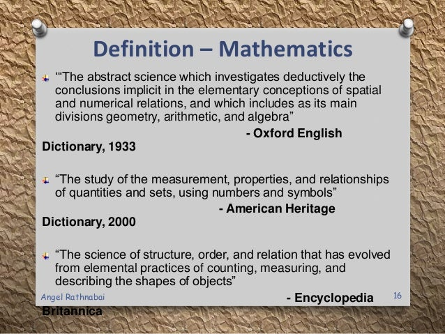 definition of mean in mathematical terms A: mathematical equations called functions use input and output replace the variables in an equation the input is the known variable, while the output is the solution use functions any time a variable (x) transforms in a relationship to equal a new variable (y.