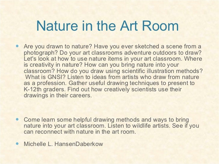 Nature in the art room