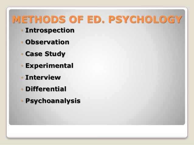 Educational Psychology - Chapter One