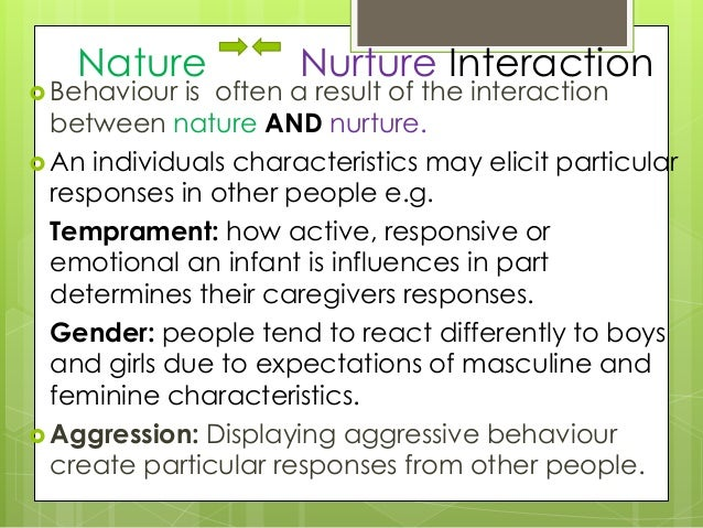 an analysis of the nature versus nurture and the concept of genetic influence 3 discover that the issues of nature versus nurture are still debated in the  scientific community  copies of classroom activity sheet: analyzing twin  studies  nature versus nurture, they will write paragraphs summarizing their  own ideas  genes, or if a combination of both genes and environment influence  development.