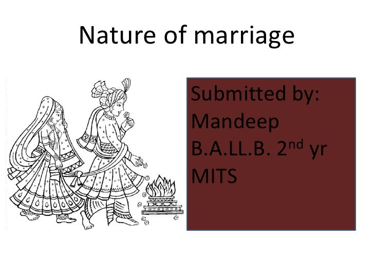 Nature of marriage