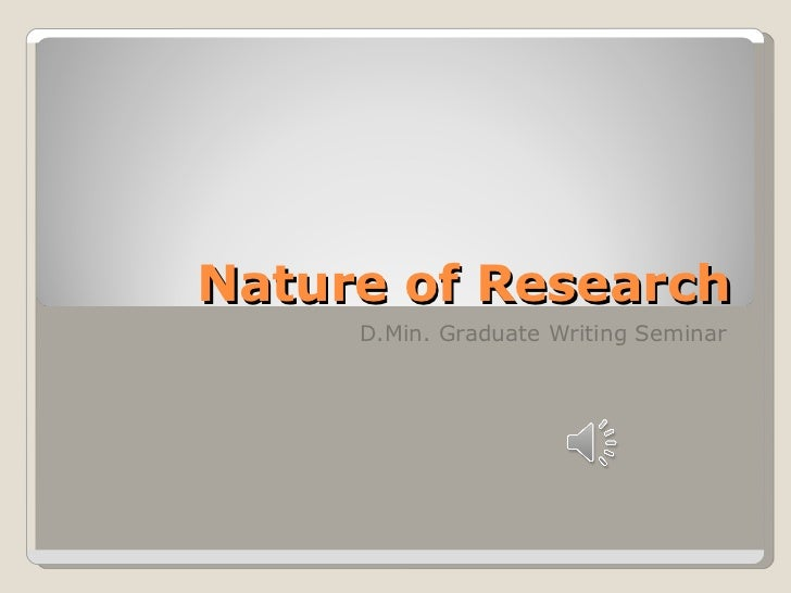 Nature of research apr 2011