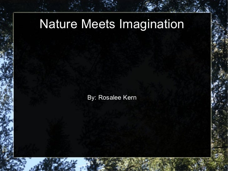 Nature Meets Imagination By: Rosalee Kern