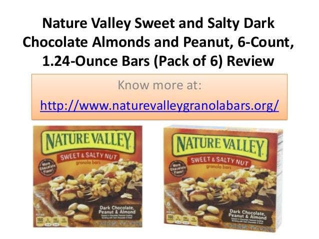 Nature Valley Sweet and Salty Dark Chocolate Almonds and Peanut, 6-Count, 1.24-Ounce Bars (Pack of 6) Review Know more at:...