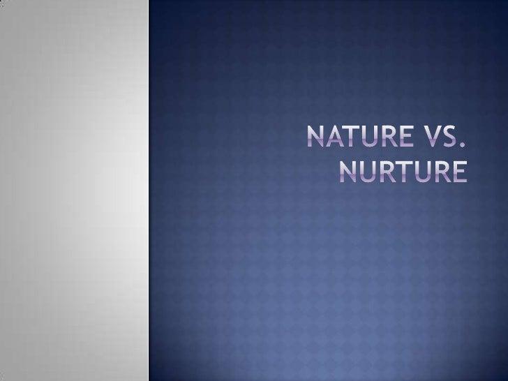Who Started Nature Vs Nurture