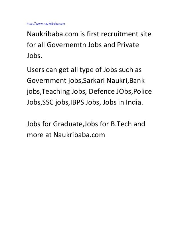 Jobs jobs naukri.com