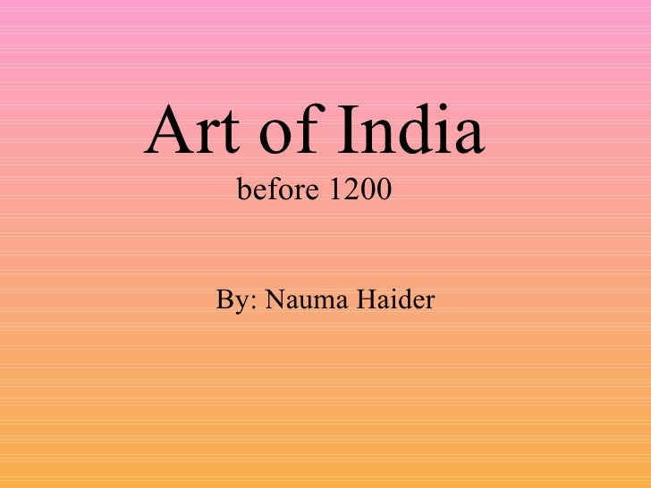 Art Of India Before 1200