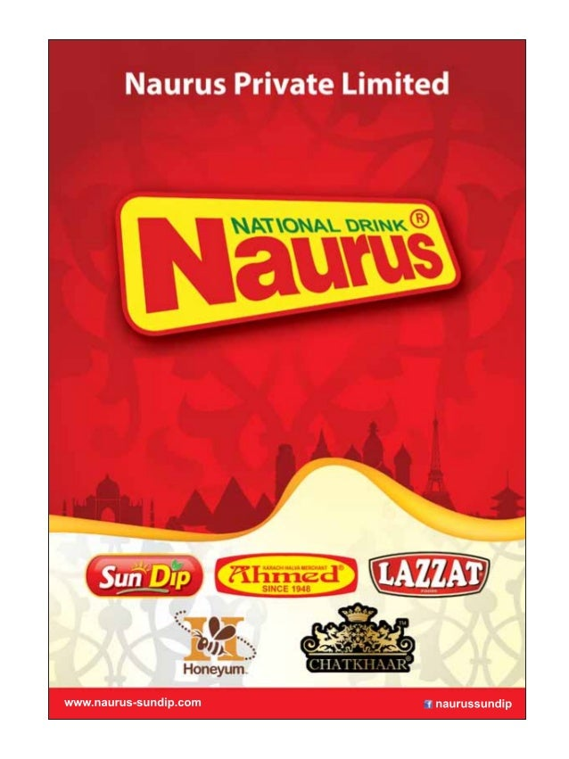 NAURUS SUNDIP FOOD PRODUCTS CATALOG