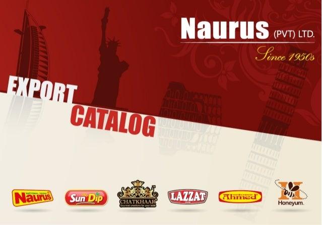FOOD PRODUCTS CATALOG OF NAURUS PVT LTD PAKISTAN