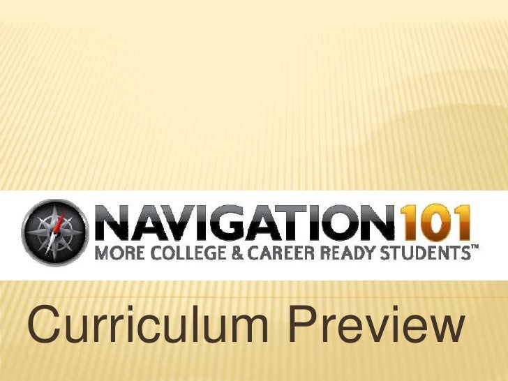 Nav101 curriculum preview
