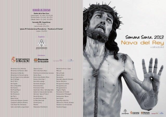 HORARIO DE TEMPLOS                                       Ermita de la Vera Cruz:                                 · Jueves ...