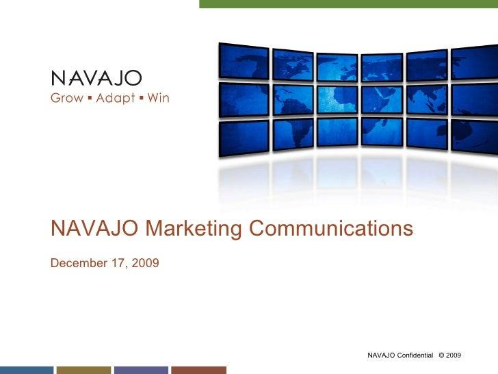 NAVAJO Marketing Communications  December 17, 2009