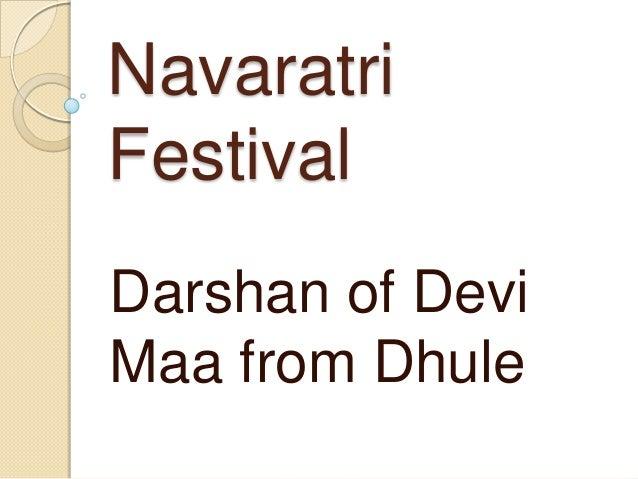 NavaratriFestivalDarshan of DeviMaa from Dhule