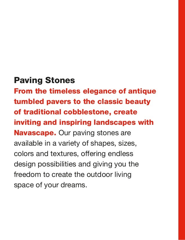 Stone Works Canada-Navascape product guide paving