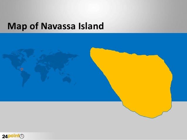 Navassa Island Map - PowerPoint Slides
