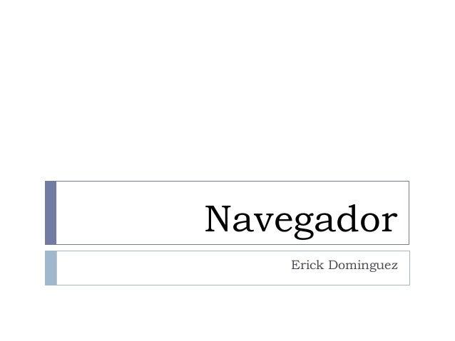 Navegador Erick Dominguez
