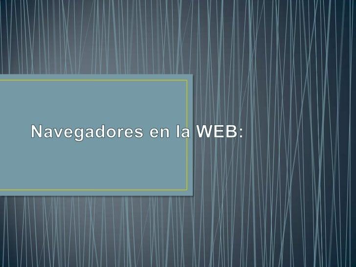 Navegadores en la web