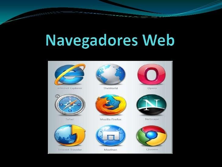 Algunos Navegadores web Mozilla Firefox Google Chrome Opera Internet Explorer