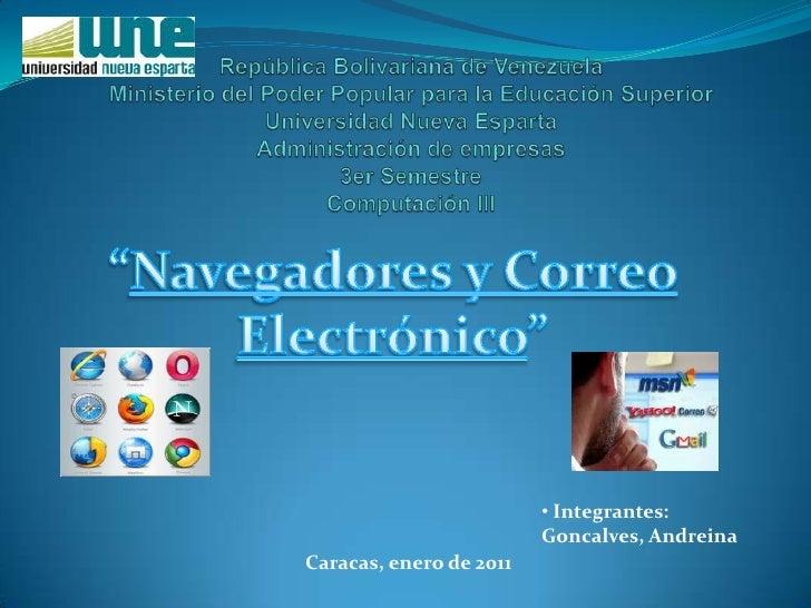 Navegadores y Corre Electrónico new