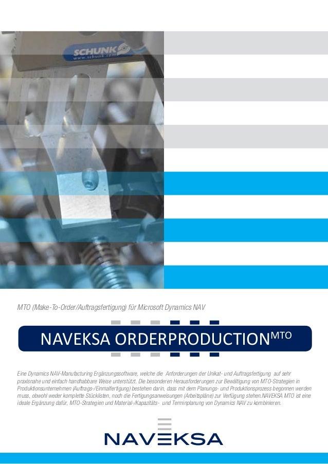 NAVEKSA CADCONNECTPML  NAVEKSA MM CONSOLEIMD  NAVEKSA SHOPFLOORSFS  MTO (Make-To-Order/Auftragsfertigung) für Microsoft Dy...