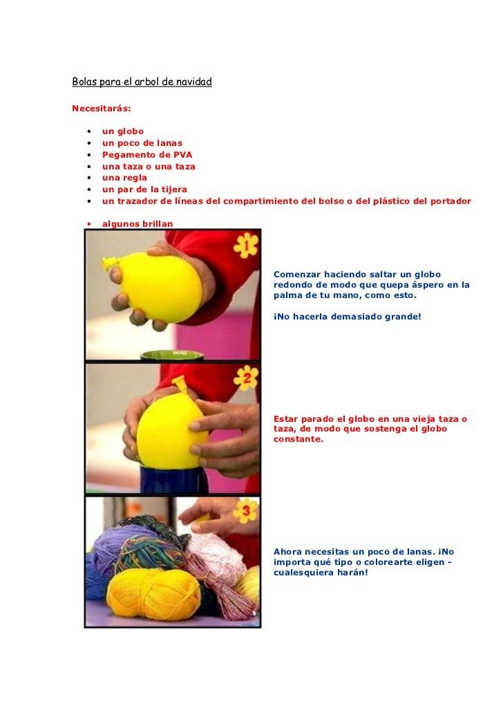 Hacer bolas para el rbol de navidad - Como hacer bolas para el arbol de navidad ...
