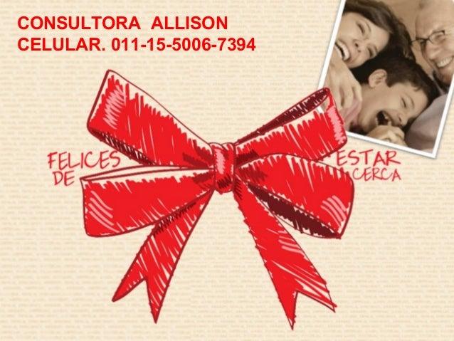 CONSULTORA ALLISON CELULAR. 011-15-5006-7394