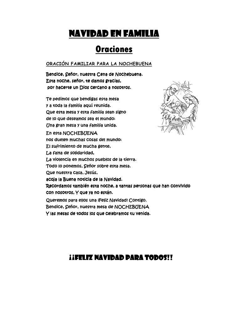 NAVIDAD EN FAMILIA                           Oraciones                           OracionesORACIÓN FAMILIAR PARA LA NOCHEBU...
