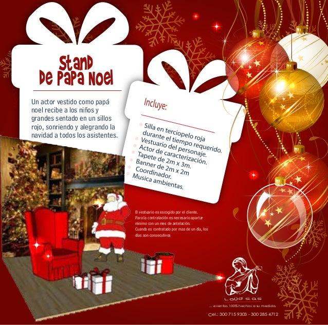 Un actor vestido como papá  noel recibe a los niños y  grandes sentado en un sillos  rojo, sonriendo y alegrando la  navid...