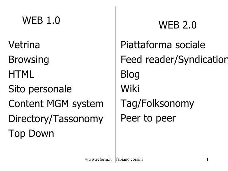 WEB 1.0 <ul><li>Vetrina