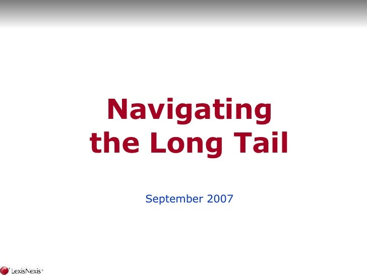 Navigating The Long Tail
