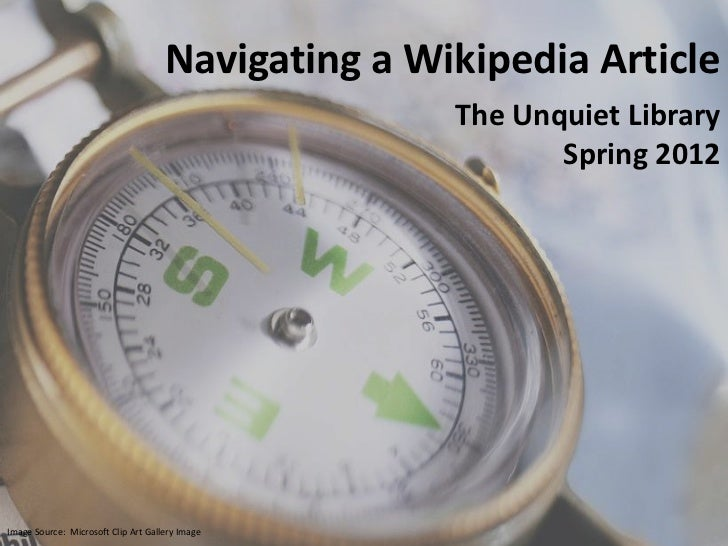 Navigating a Wikipedia Article Spring 2012