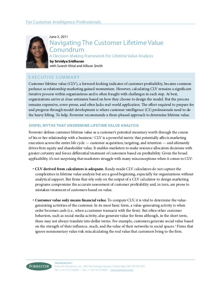 Navigating Customer Lifetime Value Conundrum