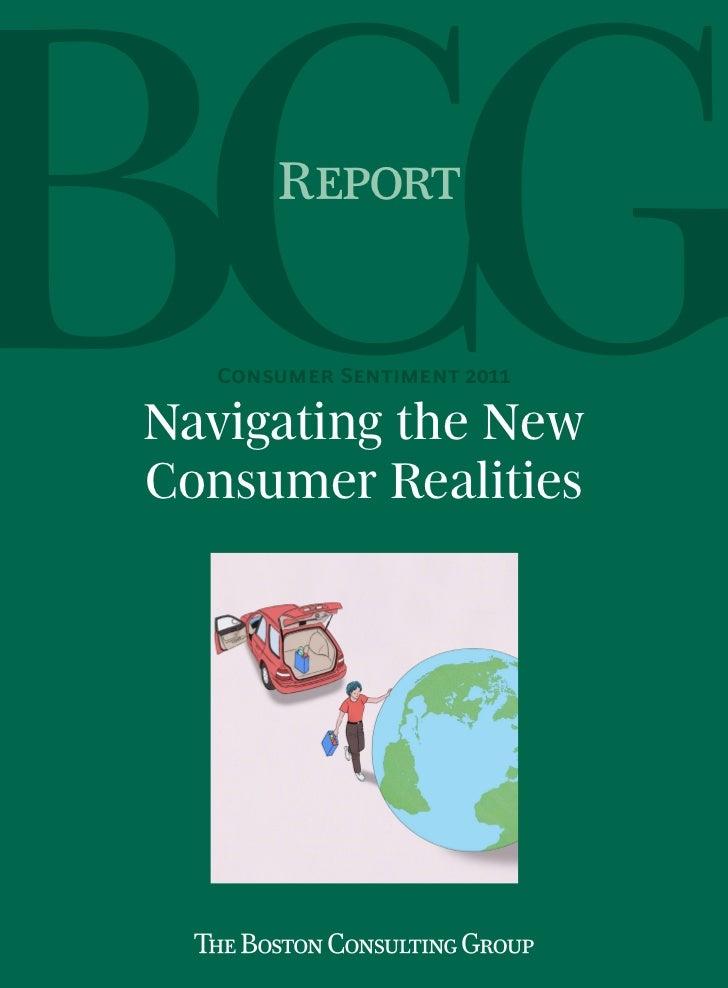 Report   Consumer Sentiment 2011Navigating the NewConsumer Realities